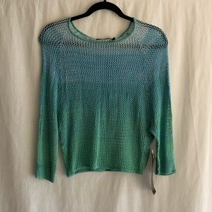 NWT 525 America Blue Ombre Knit Top